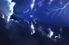 ночное небо бурное Стоковое Изображение