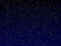 Ночное небо вектора Стоковые Изображения