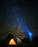 Ночное небо в Патагонии Стоковые Фото