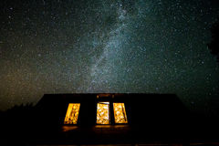 Ночное небо в Польше Стоковое Изображение RF