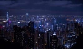 Ночное небо Гонконга Стоковые Фотографии RF