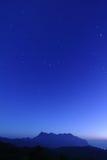 ночное небо горы Стоковое Изображение RF
