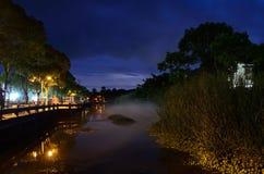 Ночное небо горы Putuo Стоковое Изображение