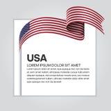 ночное небо звёздные США флага феиэрверков предпосылки Стоковое фото RF