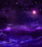 ночное небо звёздное Стоковые Изображения RF
