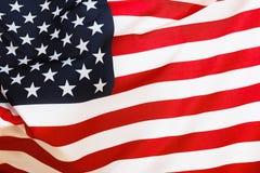 ночное небо звёздные США флага феиэрверков предпосылки Стоковые Фото