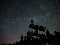 Ночное небо играет главные роли замечание Стоковые Изображения RF