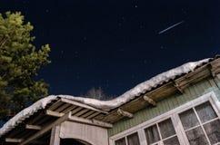 Ночное небо и астероид Стоковое фото RF