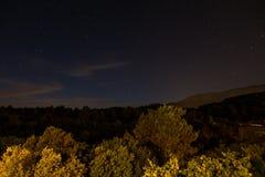 ночное небо молнии иллюстрации абстракции Стоковые Фото