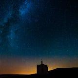 ночное небо молнии иллюстрации абстракции Стоковое Изображение RF