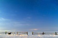 ночное небо молнии иллюстрации абстракции Стоковые Изображения RF