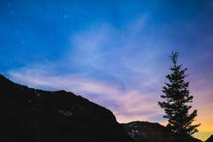 ночное небо молнии иллюстрации абстракции Стоковое Фото
