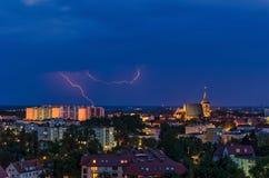 ночное небо молнии иллюстрации стоковая фотография rf