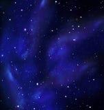 Ночное небо, млечный путь, галактика Стоковые Изображения RF