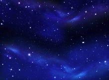 Ночное небо, млечный путь, предпосылка Стоковые Изображения RF