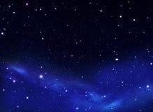 Ночное небо, млечный путь, предпосылка Стоковое Изображение RF