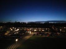 Ночное небо Нидерландов стоковое изображение