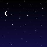 ночное небо предпосылки Стоковые Фото