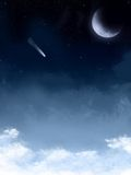 ночное небо предпосылки звёздное Стоковые Фотографии RF