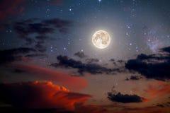 Ночное небо предпосылок Стоковые Фото