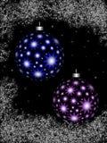 ночное небо рождества шариков иллюстрация вектора