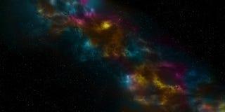 Ночное небо с звездами и nebula Использование для предпосылки звезды космоса или концепции космоса Стоковая Фотография