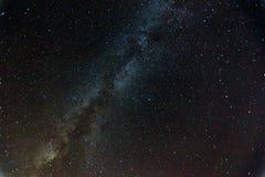 Ночное небо с млечным путем Стоковое Изображение