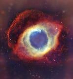 Ночное небо с предпосылкой межзвёздного облака звезд облаков Элементы изображения поставленные NASA Стоковое Изображение RF