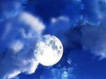 Ночное небо 3 луны Стоковое Изображение RF