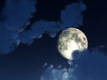 Ночное небо 4 луны Стоковое Изображение RF
