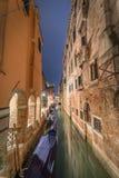 Ночной в Венеции стоковое изображение