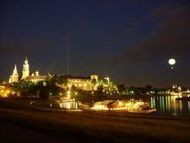 Ночной Краков стоковое фото