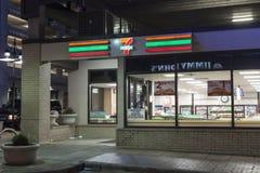 Ночной магазин 7 11 в Далласе Стоковая Фотография