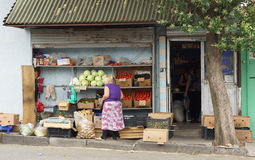 Ночной магазин, Тбилиси, Georgia, Европа Стоковая Фотография