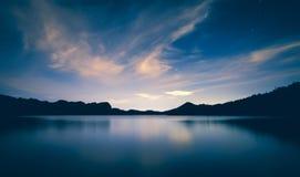 Ночной на озере Saguaro Стоковое Изображение RF