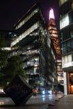 Ночь в Лондоне - черепке стоковая фотография rf