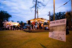 Ночь диапазона, фестиваль tallahassee Флорида тележки стоковая фотография rf