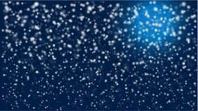 Ночь зим Snowy со светом луны иллюстрация вектора