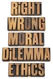 нравственность дилеммы принципиальной схемы Стоковая Фотография RF