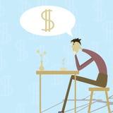 нужные деньги человека кому Стоковое Изображение RF