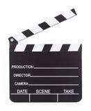 Нумератор с хлопушкой продукции кино на белой предпосылке Стоковая Фотография RF