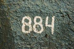 Нумерология или волшебство чисел 884 Стоковая Фотография RF