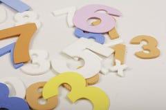 Нумерует математику красочную стоковые фото