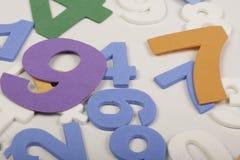 Нумерует математику красочную стоковая фотография rf