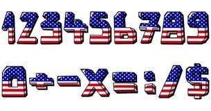 нумерует США Стоковая Фотография RF