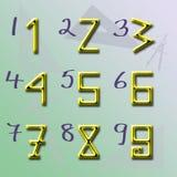 нумерует форму v2 начала Стоковые Фотографии RF