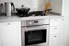 нутряная белизна кухни Стоковое Изображение RF