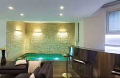 нутряная живущая комната широко Стоковое Фото