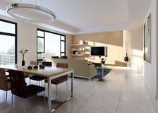 нутряная живущая комната иллюстрация вектора