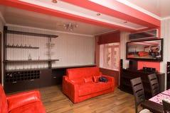нутряная живущая роскошная самомоднейшая комната Стоковая Фотография RF
